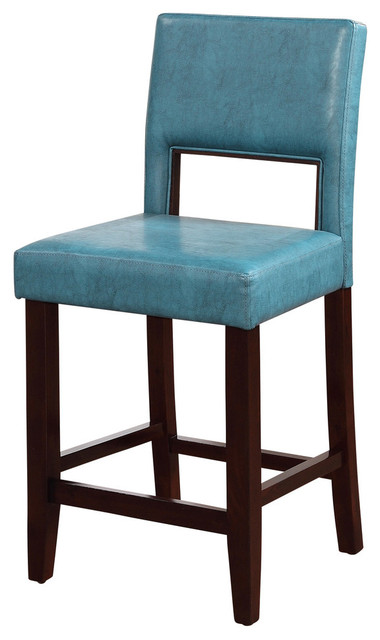 Vega Counter Stool Agean Blue Transitional Bar Stools