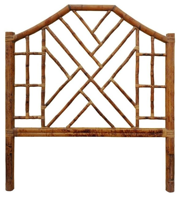 Chinese Chippendale Bamboo Rattan Headboard Queen Tropical Headboards By Touchgoods