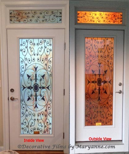 Installed Stained Glass Door Films Ive Done Mediterranean Other