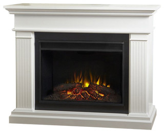Real Flame Kennedy Electric Grand Fireplace in White - Traditional - Indoor Fireplaces - by ...