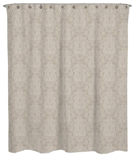 Paisley Beige Hailey Shower Curtain 72x72