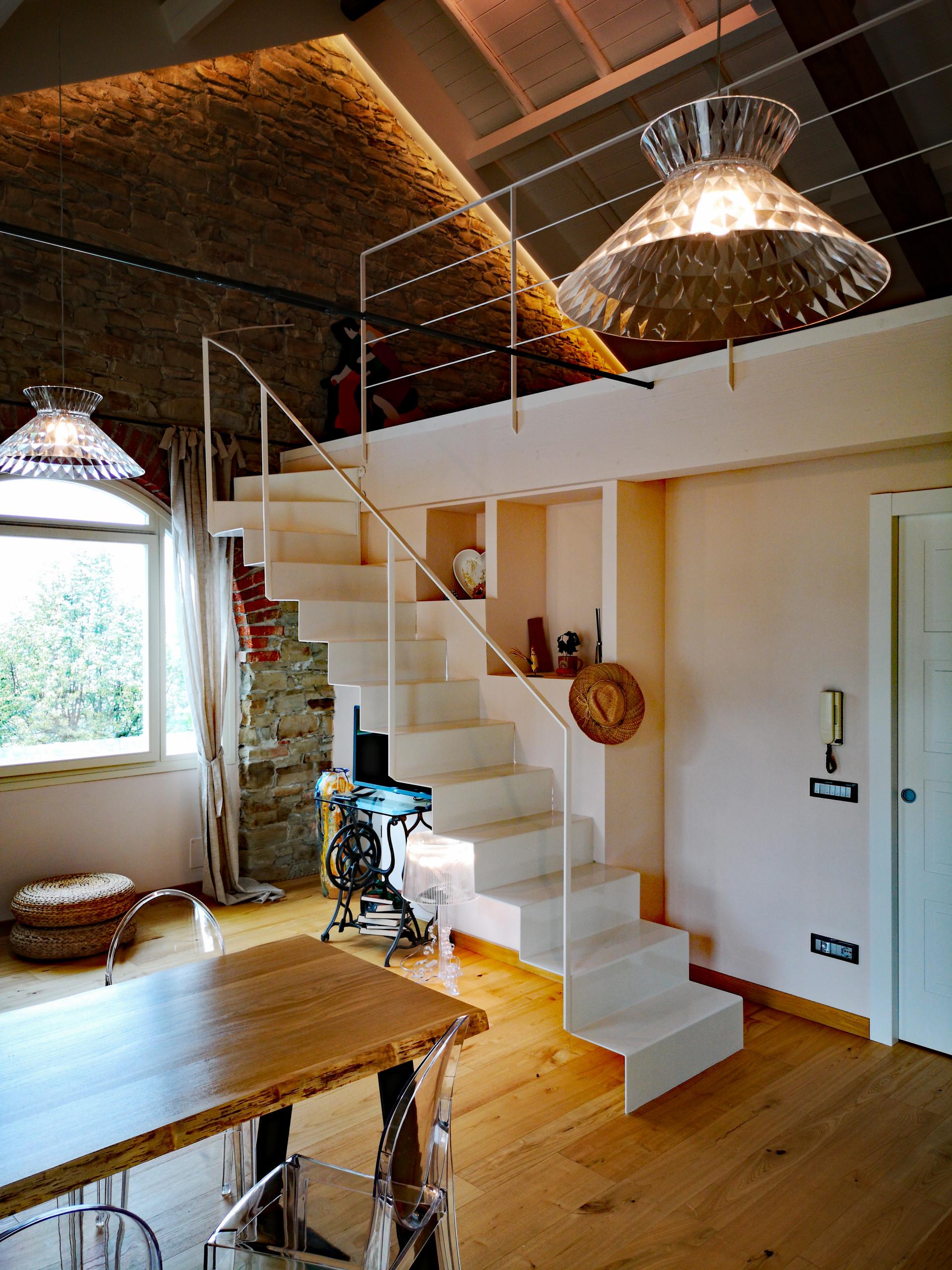 casa GI il rustico legno acciaio e pietra