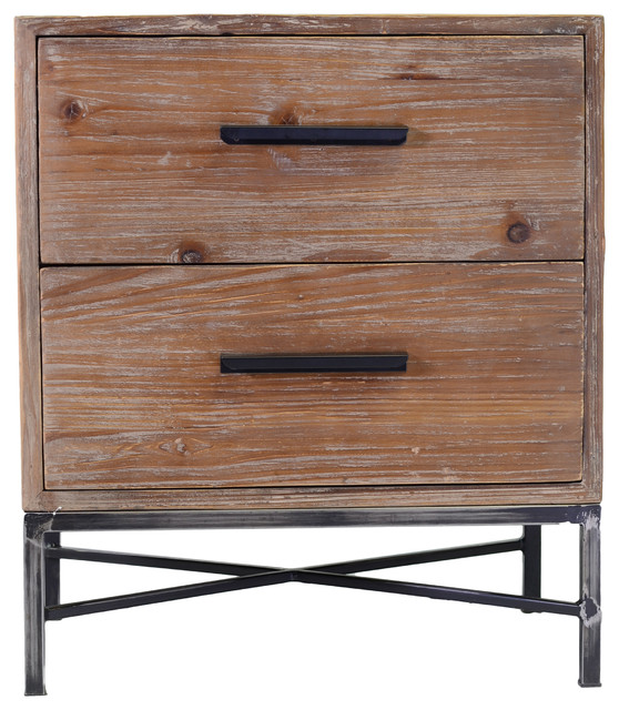 Elegant reclaimed wood 2 drawer nightstand transitional nightstands and bedside tables by - Elegant types of nightstands ...