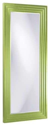 Howard Elliott Delano Tall Mirror, Green.