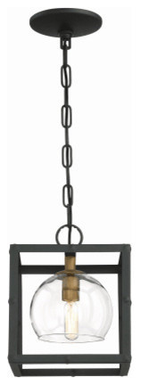 Eurofase Bentley Vintage Chic Pendant With Glass Orbs In Black Framing.