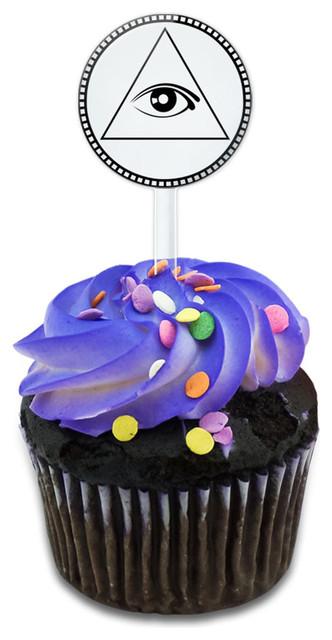 Eye Of Providence Cupcake Toppers Picks Set.