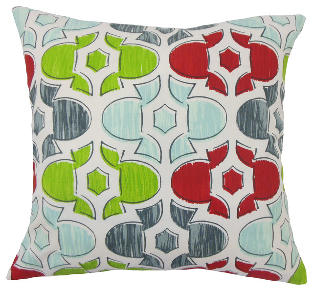 The Pillow Collection Bhayva Geometric Bedding Sham Florence Queen//20 x 30