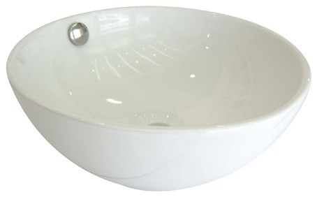 Kingston Brass Le Country China Vessel Bathroom Sink With Overflow Hole
