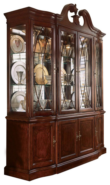 American Drew Cherry Grove Breakfront China Cabinet - Traditional ...