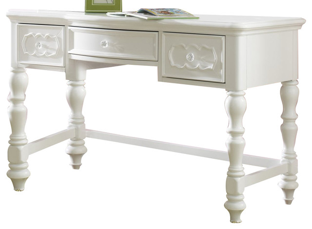 Samuel Lawrence Furniture Sweetheart Desk Vanity, Bright White.