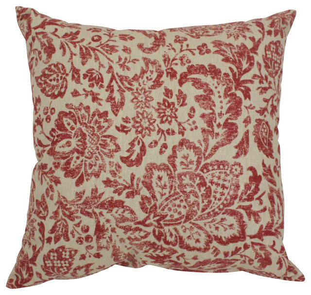 Traditional Accent Pillows : Fairhaven Damask 16.5