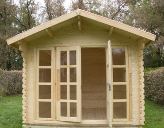 Brighton garden shed traditional chicago by for Traditional barn kits