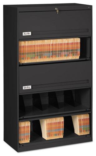"Tennsco Closed Fixed Shelf Lateral File, 36""x16 1/2""x63 1 ..."