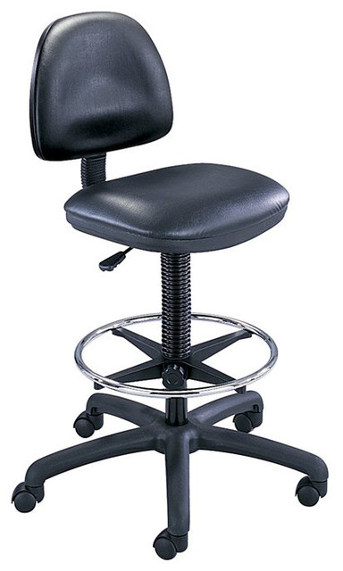 Safco Black Vinyl Precision Drafting Chair With Ring Foot