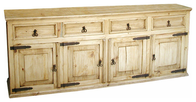 Yosemite Large Rustic Pine Buffet Buffets And Sideboards