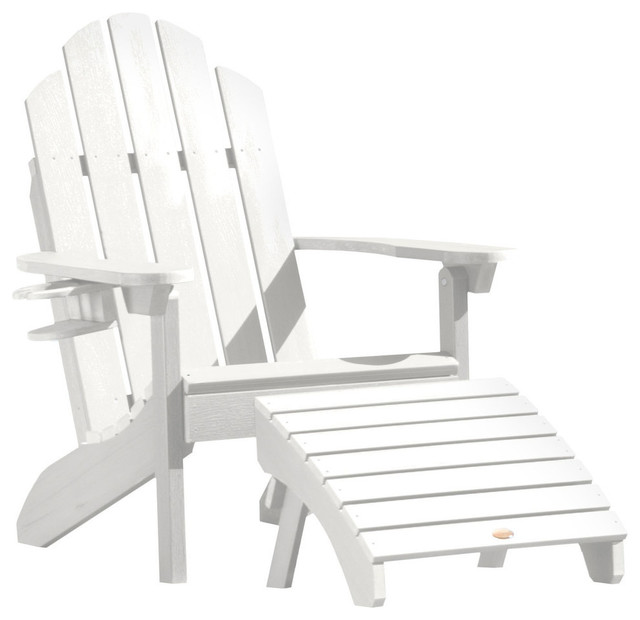 Astounding Westport Adirondack Chair And Folding Ottoman Set White Bralicious Painted Fabric Chair Ideas Braliciousco