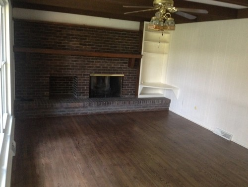 would you paint this fireplace white