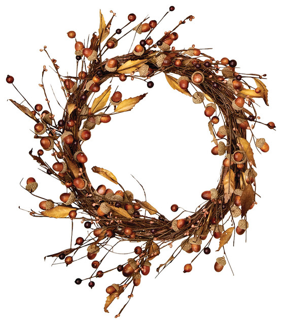 "14"" Acorn And Leaf Wreath."