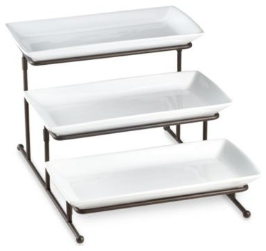 B Smith 3 Tier Swivel Step Server Contemporary