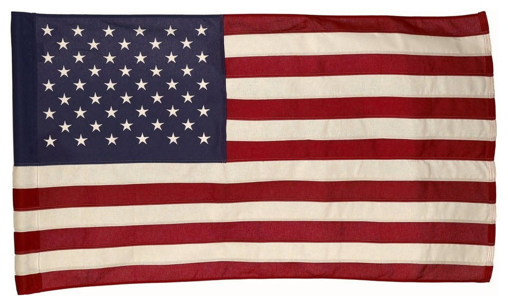 Valley Forge US American Flag 3/'x5/' Poly//Cotton Economy 100/% Made in the USA