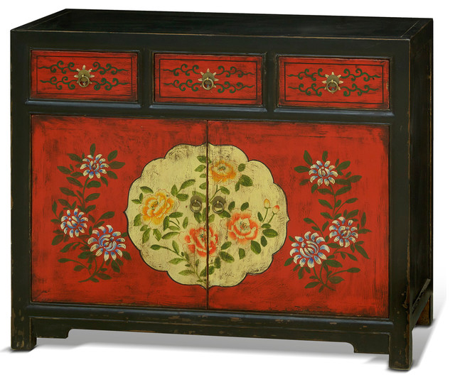 Shop houzz china furniture and arts hand painted tibetan for Hand painted oriental furniture