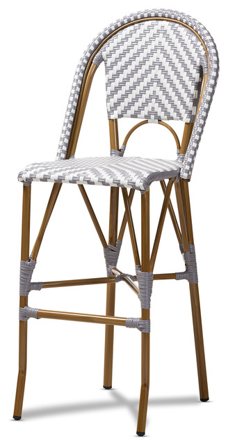 Prime Ilene French Indoor And Outdoor Bamboo Style Stackable Bistro Bar Stool Theyellowbook Wood Chair Design Ideas Theyellowbookinfo