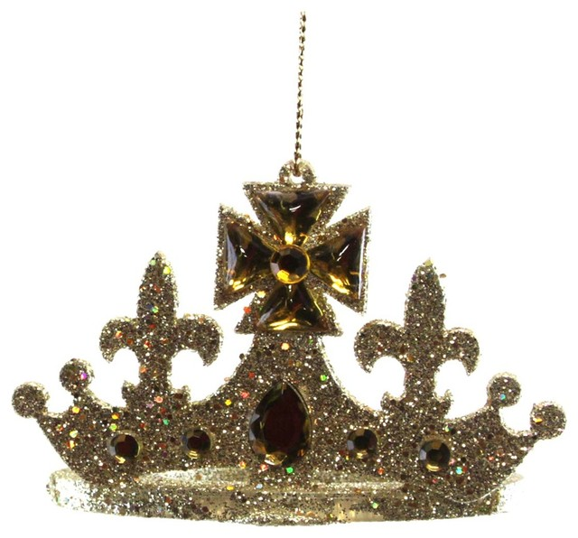Giftcraft crown ornament gold king decorative objects for Decorative objects for home