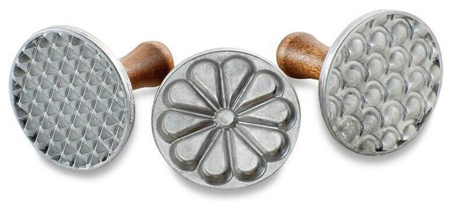 3-Pieces All Season Cast Cookie Stamps By Nordicware.