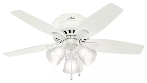 Hunter Newsome 42 Low Profile 3-Light Newsome Indoor Ceiling Fan Ceiling Fan.