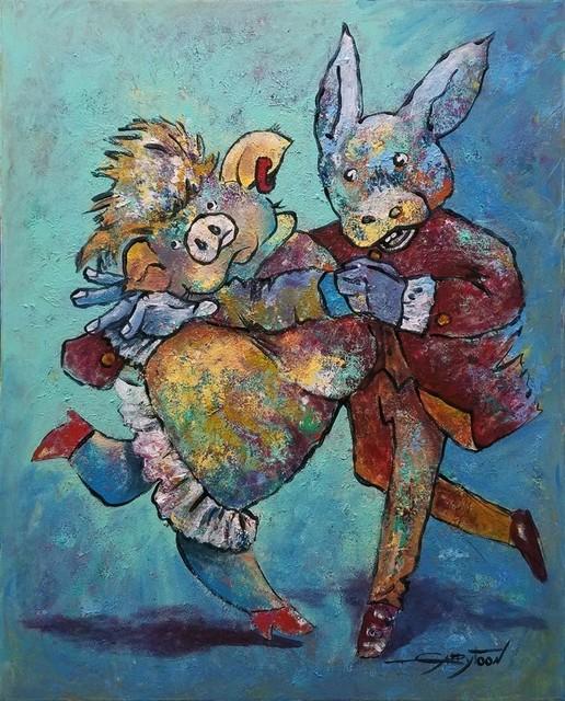 dance  original  by gabbytoon - contemporary - paintings - by vango art