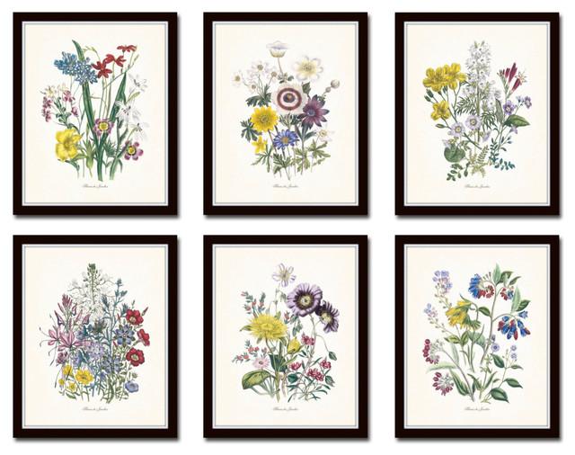 Fleurs de jardin botanical print no 15 unframed prints for Botanic fleurs artificielles
