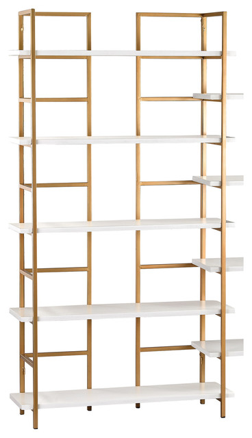 Sterling 351-10204 White And Gold Shelving Unit