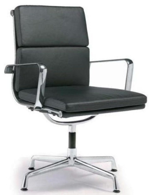 Merveilleux Director Padded Stationary Office Chair, Black