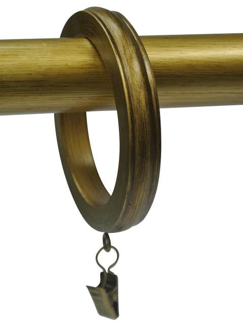 Urbanest 2 1/2 Banded Designer Curtain Rings, Renaissance Gold, Set Of 4.