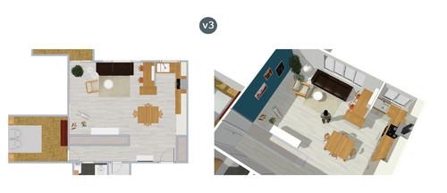 dilemme am nagement cuisine semi ouverte. Black Bedroom Furniture Sets. Home Design Ideas
