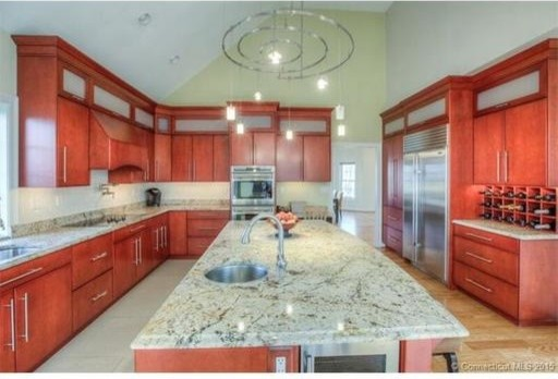 This 2007 kitchen had a decent layout but really showed its age