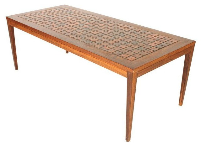 Danish Mid Century Modern Tile Top Table Modern Coffee Tables