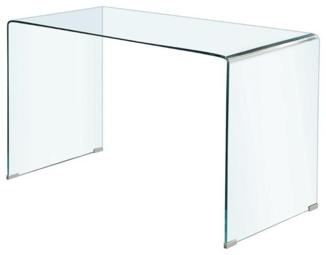 Coaster Highsmith Contemporary Clear Bent Glass Writing Desk