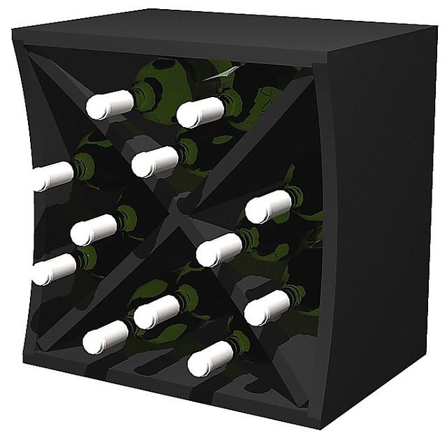 Tivioli Wine Rack, Pine And Midnight Black.