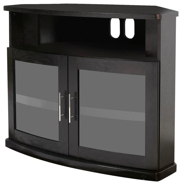 Mesa Corner Tv Stand White 62 Transitional Entertainment