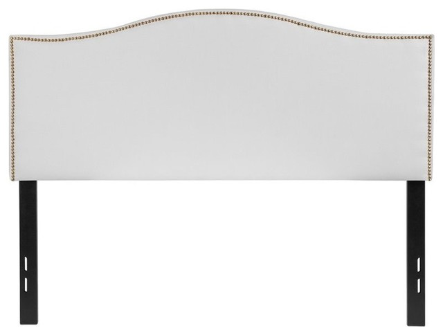 Flash Furniture Lexington Full Fabric Panel Headboard, White.