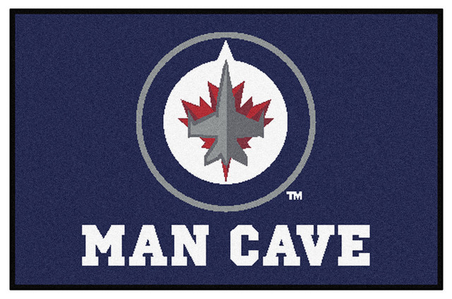 Man Cave Rugs : Winnipeg jets man cave area rug traditional rugs