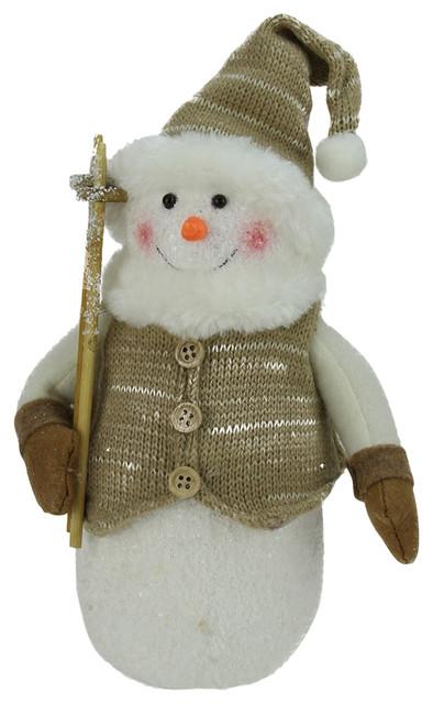 Alpine Snowman Christmas Decoration Contemporary Christmas