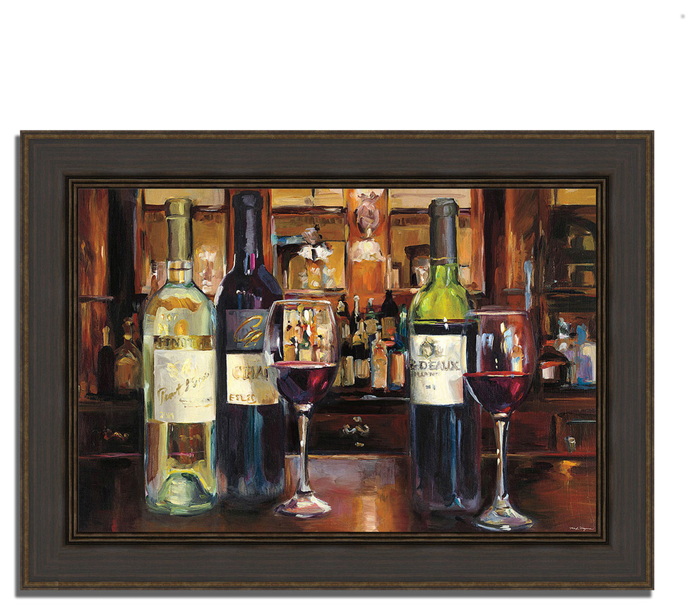 A Reflection Of Wine By Marilyn Hageman Framed Painting Print Ready To Hang Traditional Prints And Posters By Tangletown Fine Art