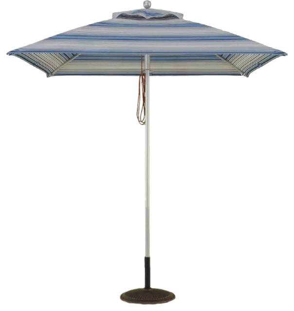 7 Diagonal 4 Rib Square Umbrellas.