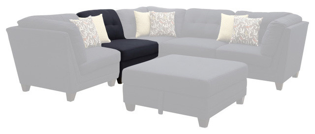 Coaster Keaton Armless Chair, Midnight Blue 503451 Contemporary Sectional  Sofas