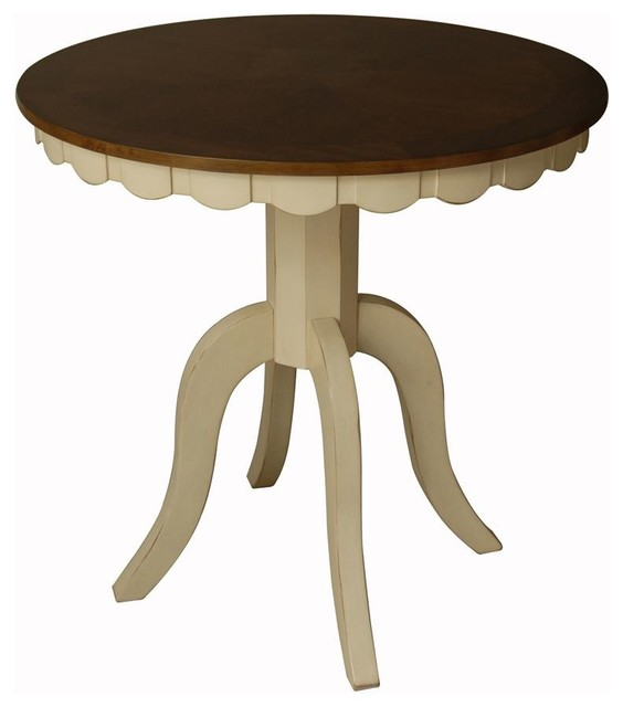 Counter Height Pedestal Dining Table Part - 45: Cottage Counter Height Round Dining Table W Pedestal Base Transitional- Dining-tables