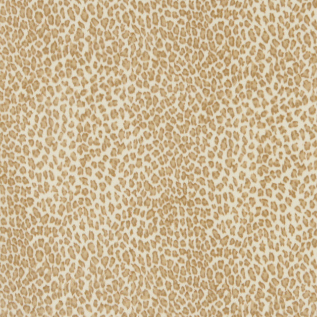 Beige Leopard Print Microfiber Stain Resistant Upholstery Fabric By The Yard