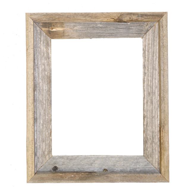 Rustic Decor llc Tulsa Signature Reclaimed Rustic Barn Wood Open Frame - Picture Frames : Houzz