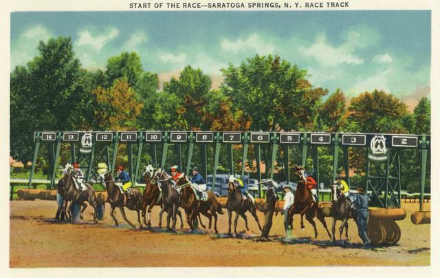 Quot Saratoga Springs New York Saratoga Race Track Starting